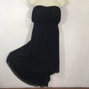 Torrid Black Strapless Dress Hi Low Hem Size 4X